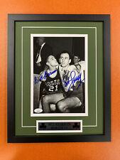 Bill Sharman Bob Cousy Signed 8x10 Photo Jsa Auto Custom Framed Celtics