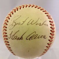 Rare 1974 Hank Aaron Playing Days Signed National League Baseball PSA DNA COA