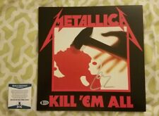 Lars Ulrich signed auto vinyl record Metallica Kill Em All Beckett COA A93426
