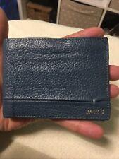 URBY Gentlemans Blue Premium Leather Bifold Wallet.