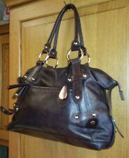 "Radley ""TULA"" Medium Dark Brown Genuine Leather Grab Bag Handbag"