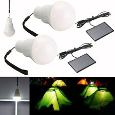 2Pcs Solar Powered LED Rechargeable Bulb Light Outdoor Indoor Camping Tent Lamp