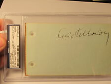 Cecil Kellaway Eddie Albert PSA/DNA Certified Autograph Signed Page