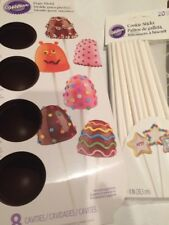 Wilton 8 Cake Pops Silicone Cavity Mold and 20 Cookie Sticks