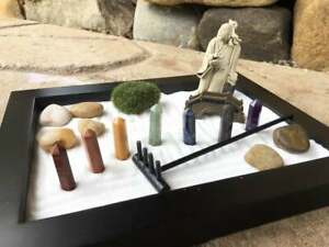 Chakra Zen Garden,Buddha Tabletop Zen Garden Kit, Patio Zen Garden, Zen,Dry Land