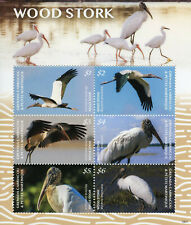 Grenadines of Grenada 2019 MNH Wood Stork 6v M/S Storks Birds Stamps