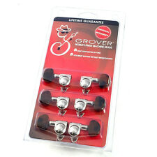 Grover Nickel w/Tortoise Button Rotomatic Tuners for Gibson®/Epiphone® Guitar