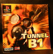 TUNNEL B1 GAME MANUAL FOR THE PLAYSTATION (PS1).