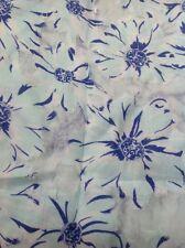 "Anthropologie Daisy Chain Floral Curtain By Porridge 50"" X 96"" Mint Green Blue"