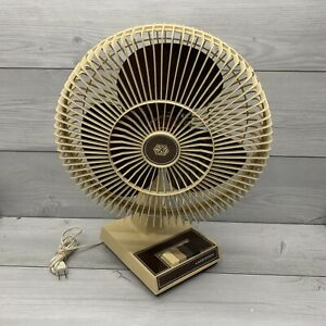 """Vintage Lakewood 12"""" 3-Speed Table Top Oscillating Fan Model 1200A Working Clean"""