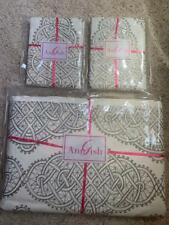 $2612! Nwt Ann Gish Infinity 100% Linen 3-Pc King Duvet Cover Shams Set - Taupe