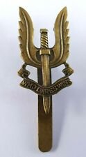 WWII WW2 Brass SAS Special Air Service Cap Badge with slider