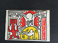 Keith HARING: Postcard SUPER RARE from Milan Italy  Art Gallery 1984 RARE!!!
