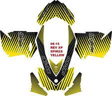 SKI DOO SNOWMOBILE STICKER DECAL WRAP KIT REV,XP, XR,XS,XM 03-16 SPIKES