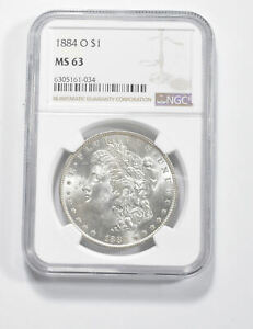 MS63 GRADED - 1884-O Morgan Silver Dollar- NGC *353