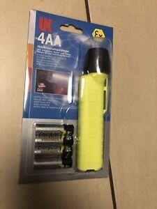Helmlampe UK 4AA eLED RFL Feuerwehr Rettungsdienst Gefahrgut EX geschützt Neu