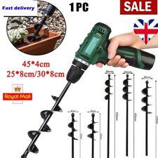 More details for earth auger drill bit fence borer for garden planting post hole digger tools uk
