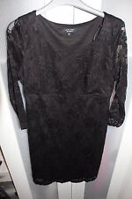 Ladies maternity lace Christmas ocassion/party dress size 10 exc condition