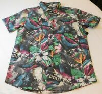 O'Neill Boys Youth Short Sleeve Button Up Shirt Size L large Livin' Later SS NWT