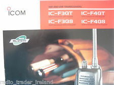 ICOM-HANDHELD'S (GENUINE BROCHURE ONLY)..........RADIO_TRADER_IRELAND.