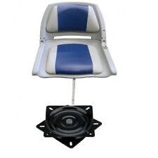 Folding Moulded Marine Boat Seat Grey Blue + Seat Swivel