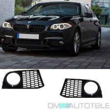 Gitter Grill Nebelscheinwerfer Set Schwarz passend für BMW F10 F11 M-Paket 10-13