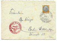 GERMANY POSTAL HISTORY REICH COVER AIRMAIL VIA GRAF ZEPPELIN ADDR BERLIN YR'1938