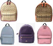 Coach F32200,30550 Medium Charlie Signature Leather Backpack Rouge,Orange,purple