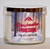 1 Bath & Body Works Marshmallow Fireside Scented 3 WICK Candle 14.5 oz NEW