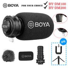 BOYA BY DM100 DM200 A7H Digital Condenser Stereo Mic Microphone for Phones iPad