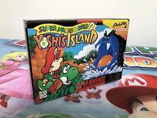 NUEVO Juego Super Nintendo Snes Mario World 2 Yoshi's Island Ntsc Usa Original