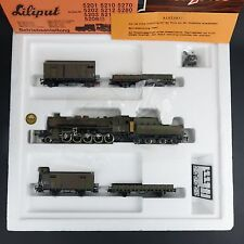 Vintage LILIPUT 852 HO H0 DR DRG Wehrmacht DC train set with BR 52 , NEW NOS