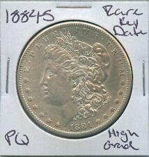 1884-S Morgan Dollar Rare Key Date US Mint Silver Coin PQ High Grade
