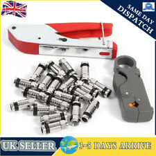 Compression Tool Kit F Rg59 Rg6 Connector Fitting Coaxial Crimper Cable Coax UK