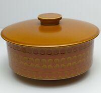 Vintage Hornsea Saffron Casserole Serving Dish With Lid Good Vintage Condition