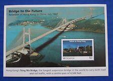 Micronesia (#256) 1997 Hong Kong's Tsing Ma Bridge MNH minisheet