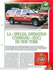 Special Operation Command SOC New-York FDNY Sapeurs Pompiers FICHE FIREFIGHTER