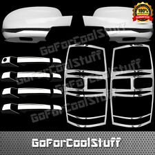 For Chevy Tahoe 2007-2014 Chrome Mirror, Door Handles, Tail Lights Covers