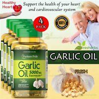 Garlic Oil 5000mg Blood Pressure Cholesterol Acidity Heart Supplement 1000 ct