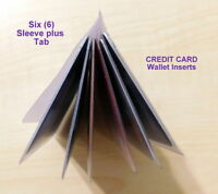 Credit Card Holder (6 Sleeve) for Wallet or Purse  Set of two (2)