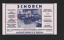 RHEYDT, Werbung 1927, Schorch-Werke AG Generatoren