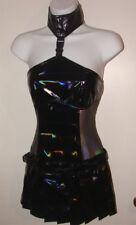 lip service oil spill mini dress XS mesh vinyl great