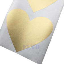 10Pcs Scratch Off Sticker 70x80mm Love Heart Gold Color Lowest Price