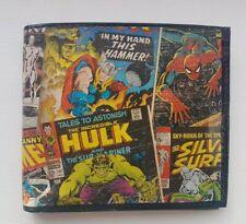 Mens Genuine Leather Wallet - Marvel Avengers Boys Gift Iron Man Spiderman Hulk