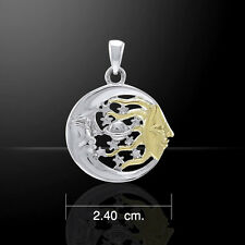Sun Moon Stars and Planet .925 Sterling Silver Pendant Peter Stone