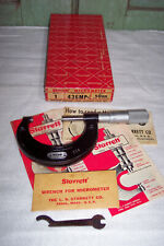 Starrett Outside Micrometer 436 Mp Carbide Size 50 Mm Withwrench Amp Box