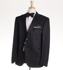 NWT $1975 CORNELIANI Black Wool-Silk Peak Lapel Tuxedo 44 R (Eu 54) Suit