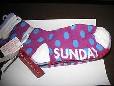 American Girl Angel Fashion Day of Week Socks For Girls 8+ New