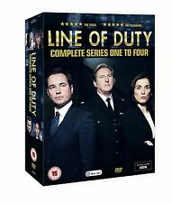 LINE OF DUTY SERIES 1-4 SEASONS DVD BOX SET NEW AND SEALED FREE SHIPPING