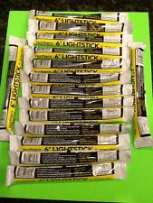 15 Yellow Glow Stick Lot Disaster Survival Earthquake Hurricane USA made Rescue